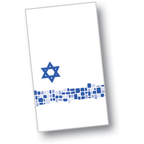 DXHS722DN01 - Shalom Design Dinner Napkin 15&quot; x 17&quot; (100/pk)