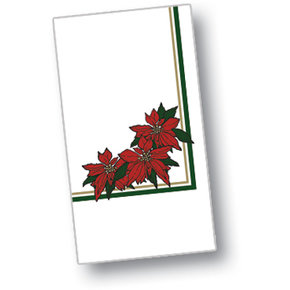 DXH5455DN01 - Poinsettia Blossom Design Napkin 15&quot; x 17&quot; (1000/cs)