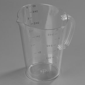 43145AF07 - Commercial  Measuring Cup 1 gal - Purple
