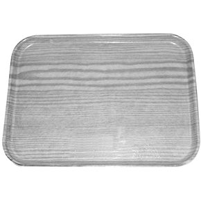 "269WFG063 - Glasteel™ Wood Grain Display/Bakery Tray 8.75"" x 25.5"" - Pecan"
