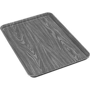 "1318WFG094 - Glasteel™ Wood Grain Display/Bakery Tray 17.75"" x 12.75"" - Redwood"