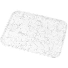 "2015DFG028 - Glasteel™ Fiberglass Decorative Tray 20.25"" x 15"" - Starfire Gray"