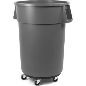 34114409 - Bronco™ Round Waste Container, Dolly, Combo (Lid Sold Separately) 44 Gallon - Green