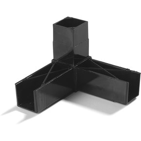 "900231 - Sneeze Guard Assembly Blocks 1"" 90* 3 Prong - Gray"
