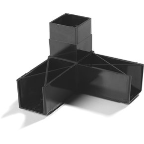 "900331 - Sneeze Guard Assembly Blocks 1-1/4"" 90* 3 Prong - Gray"