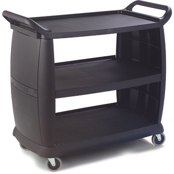 CC224303 - Large Bussing and Transport Cart 42&quot; x 23&quot; - Black