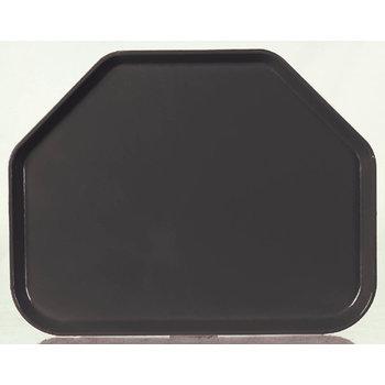 "1713FG004 - Glasteel™ Fiberglass Tray Trapezoid 18"" x 14"" - Black"