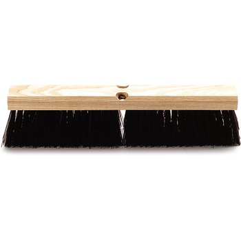 "4520101 - Flo-Pac® Crimped Polypropylene Sweep with Brace 18"" - Maroon"