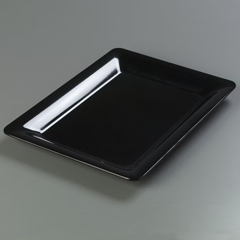 "4441603 - Designer Displayware™ Wide Rim Rectangle Platter 17"" x 13"" - Black"