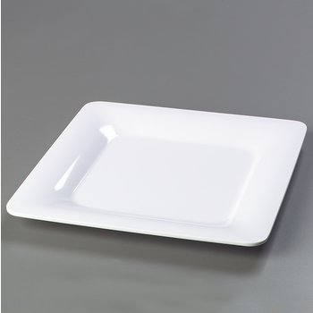 "4440002 - Designer Displayware™ Wide Rim Square Plate 12"" - White"