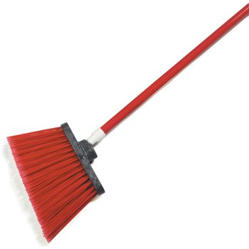 "4108205 - Sparta® Spectrum® Duo-Sweep® Angle Broom Flagged Bristle 56"" Long - Red"