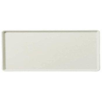 "1219LFG001 - Glasteel™ Solid Low Edge Tray 19"" x 12"" - Bone White"