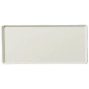 "1419FG001 - Glasteel™ Solid Metric Tray 19.7"" x 15.2"" - Bone White"