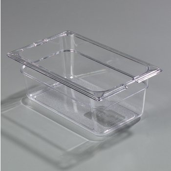"10281-807 - TopNotch® Food Pan Banded Packs 4"" DP 1/4 Size (3/st) - Clear"