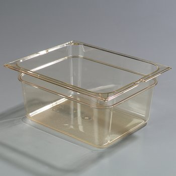 """1040213 - TopNotch® Full Size Food Pan HH 6"""" DP Full Size - Amber"""