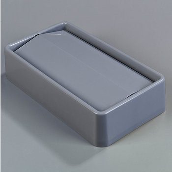 342024-823 - TrimLine™ Rectangle Waste Container Trash Can Lid with Swing Top 15 and 23 Gallon - Gray