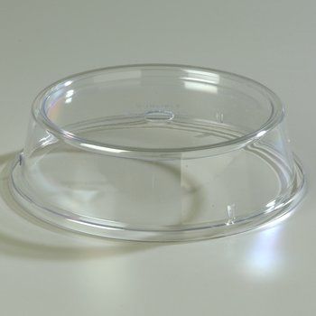 "199207 - Clear Plate Cover ""Pin Fired"" 10-1/2"" to 10-5/8""  - Clear"