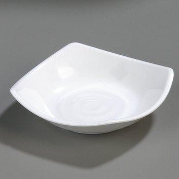 "794202 - Melamine Flared Rim Square Dish Bowl 5.25"" - White"