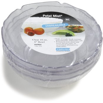 "6904-807 - Petal Mist® Bowl 18 oz, 6"" - Cash & Carry (4/st) - Clear"