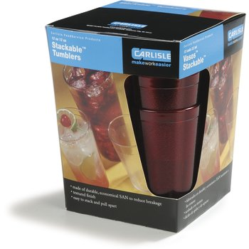 5212-810 - Stackable™ SAN Tumbler 12 oz (12/st) - Ruby