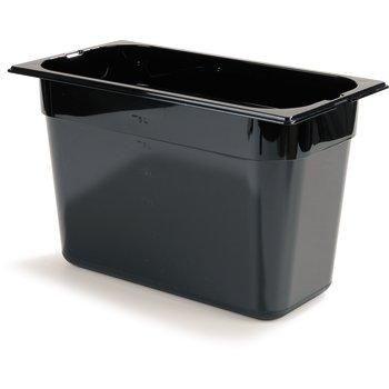"""1026903 - TopNotch® Food Pan PC 8"""" DP 1/3 Size - Black"""