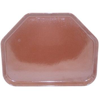 "1713FG127 - Glasteel™ Fiberglass Tray Trapezoid 18"" x 14"" - Chocolate"