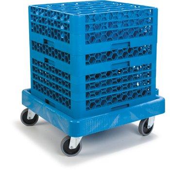 "C223614 - E-Z Glide™ Warewashing Rack Dolly Without Handle 22.5"" x 22.5"" x 8"" - Blue"