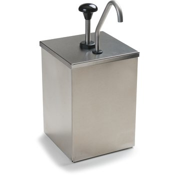 386010 - High Volume Condiment Pump w/Stainless Steel Pump  - Stainless Steel