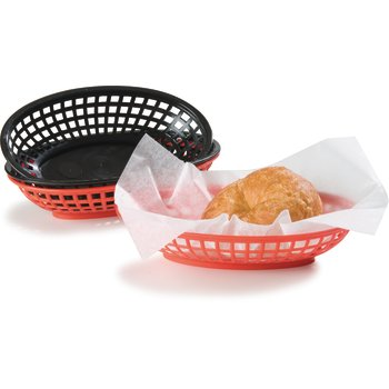 """033305 - Bread And Bun Basket Oval Basket 9-1/4"""" x 6"""" - Red"""
