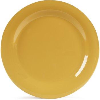 "4300222 - Durus® Melamine Dinner Plate Narrow Rim 10.5"" - Honey Yellow"