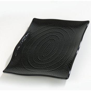 4452403 - Terra™ Rectangular Textured Platter 18 x 12 - Black