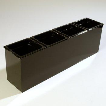 "1080603 - Condiment Food Station 25-1/4"", 6-1/2"", 8-3/4"" - Black"