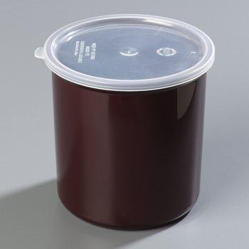 034201 - Poly-Tuf™ Crock w/Lid 2.7 qt - Brown