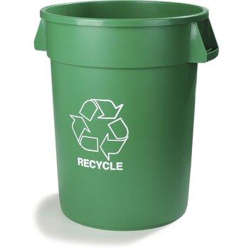 341032REC09 - Bronco™ Round RECYCLE Container 32 Gallon - Green