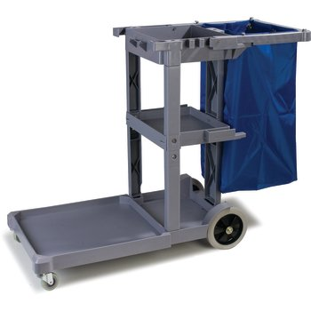 JC1945L23 - Long Platform Janitorial Cart - Gray