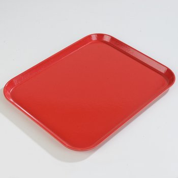 "1814FG017 - Glasteel™ Fiberglass Tray 18"" x 14"" - Red"