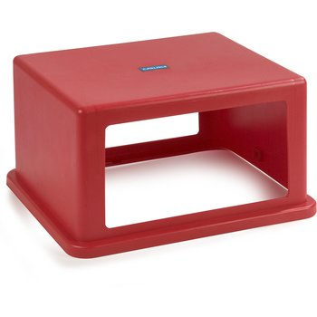 34405705 - Open-Side Square Waste Container Hood Lid 56 Gallon - Red