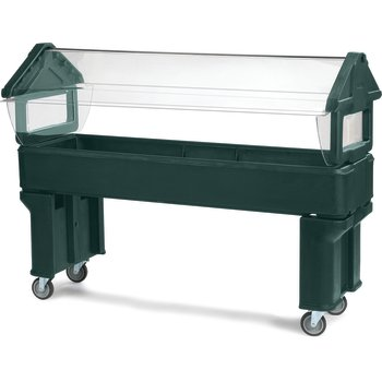 660608 - Six Star™ Portable with Legs only 6' x 2' x 4.2' - Forest Green