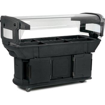 771103 - Maximizer™ Food Bar 6' x 2' x 4.5' - Black