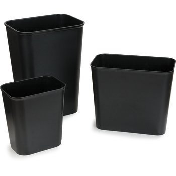34294003 - Rectangle Fire Resistant Wastebasket 41 Quart - Black