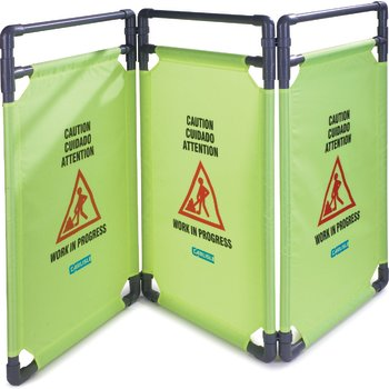3694404 - Caution Cones And Barriers 3 Panel Caution Barrier  - Avocado