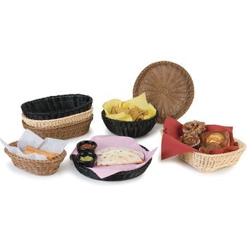 "655203 - Woven Baskets Rectangular Basket 11.5"" - Black"