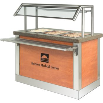 """DXDHF3 - Dinexpress® Hot Food Counter-3 Well 49"""" L x 30"""" D x 36"""" H - Stainless Steel"""