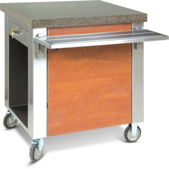 """DXDCS - Dinexpress® Cashier Stand Without Drawer 30""""L x 30""""D - Stainless Steel"""