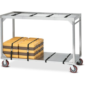 DXICSTO84 - Stacking Cart for Insulated Tray Systems, Omni Extra Long 72-84 Capacity - Stainless Steel