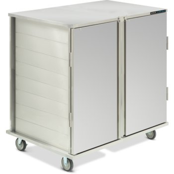 DXICT242D - Value Line Tray Cart, Enclosed 2 Door  - Stainless Steel