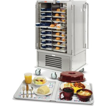 DXMOC20 - Meals On Command™ Cart  Hot/Cold Tray Delivery System Holds 20 Divided Trays - Stainless Steel