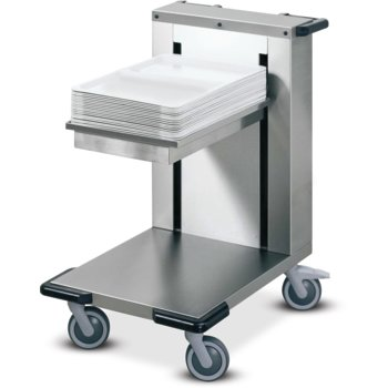 "DXMOCTD - Cantilever Tray Dispenser for Meals On Command - Single Stack 13.5"" X 23"" - Stainless Steel"