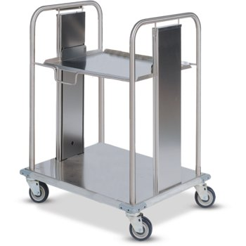 "DXIDRS1020 - Mobile Rack Dispenser, Shelf Style 18.16""L x 23.63""D - Stainless Steel"