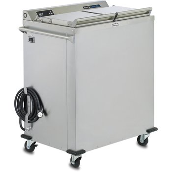 "DXIDWB20900 - 2 Silo Wax 9"" Base Convection Dispenser Heater 35.36""L x 23.68""D - Stainless Steel"
